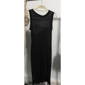 Soyer Sheer Sleeveless Black Tunic
